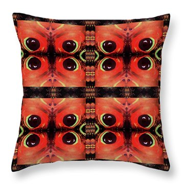 Throw Pillow featuring the painting Eyes 8 Four Square by Michelle Audas