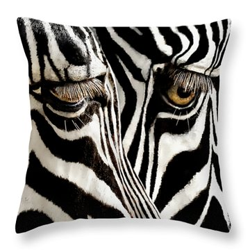 Eyes And Stripes Forever Throw Pillow