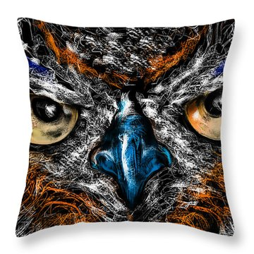 Eyes In The Night... Throw Pillow