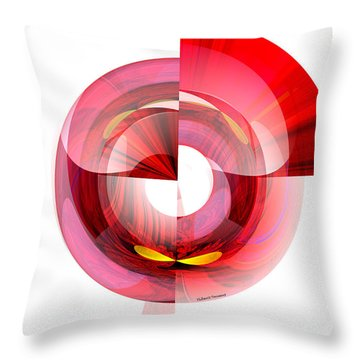 Eyes In Tunnel Throw Pillow