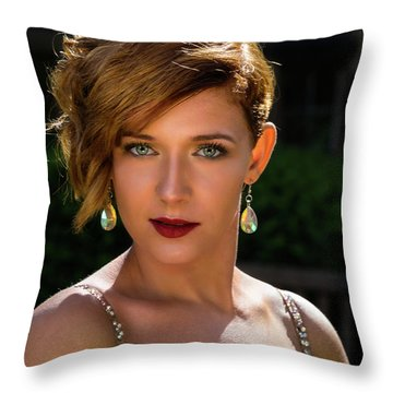 Eyes Like Crystal Throw Pillow
