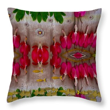 Eyes Made Of The Nature Throw Pillow by Pepita Selles