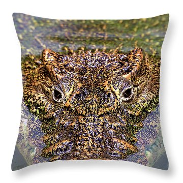 Eyes Of A Killer Throw Pillow