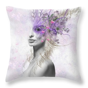Valentine Eyes Throw Pillow