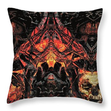 Throw Pillow featuring the painting Eyes Of Darkness  by David Mckinney