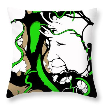 Eyes Of Faith Throw Pillow