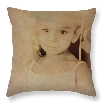 Innocent Eyes Throw Pillow