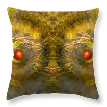 Eyes Of The Garden-1 Throw Pillow