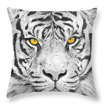 Eyes Of The Tiger Throw Pillow by Shawn Stallings