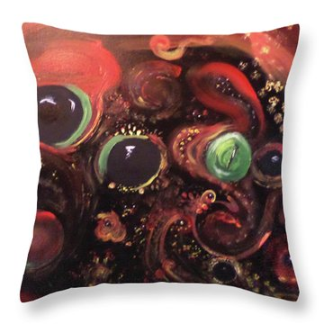 Throw Pillow featuring the painting Eyes Of The Universe # 5 by Michelle Audas