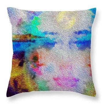 Eyes On The Horizon Throw Pillow