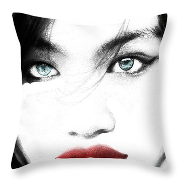 Eyes Throw Pillow by Tbone Oliver
