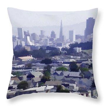 Looking East Toward San Francisco Throw Pillow