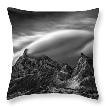 Eystrahorn, Iceland Throw Pillow