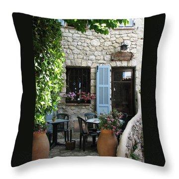 Eze Cobblestone Patio Throw Pillow by Carla Parris