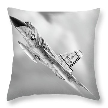 F-106a Drawing Throw Pillow