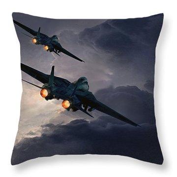 F-14 Flying Iron Throw Pillow