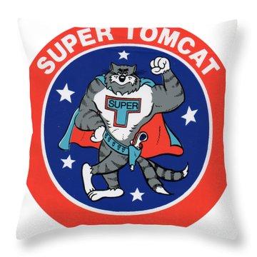 F-14 Super Tomcat Throw Pillow