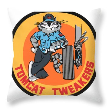 F-14 Tomcat Tweakers Throw Pillow