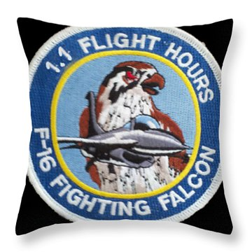 F-16 Ride Patch Throw Pillow
