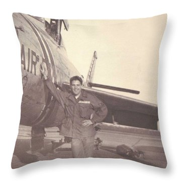 F-84f Thunderjet 1955 Throw Pillow