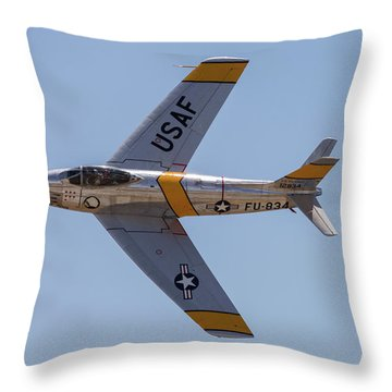 F-86 Jolley Roger Throw Pillow