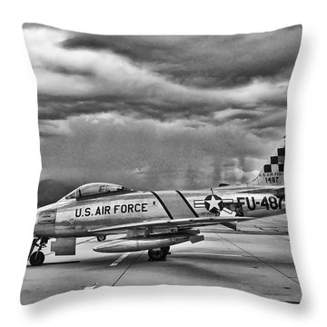 F-86 Sabre Throw Pillow