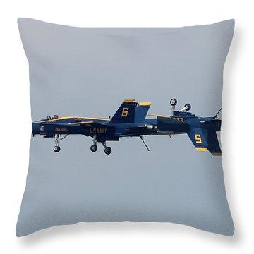 F/a 18 Hornet In Tandem Throw Pillow