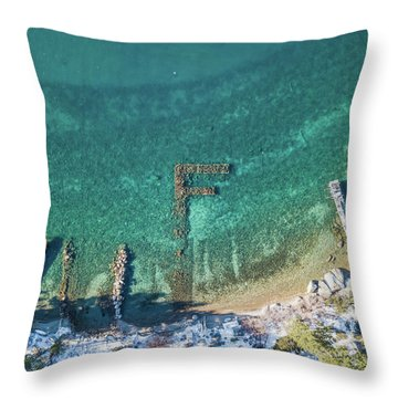 F Marks The Spot Throw Pillow