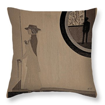 Throw Pillow featuring the painting F Scott And Zelda by Bill OConnor