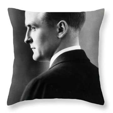F. Scott Fitzgerald Circa 1925 Throw Pillow by David Lee Guss