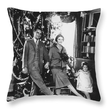 F. Scott Fitzgerald Family Throw Pillow by Granger