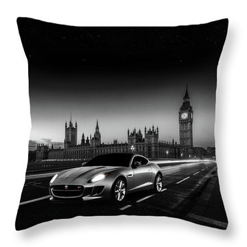 F-type In London Throw Pillow