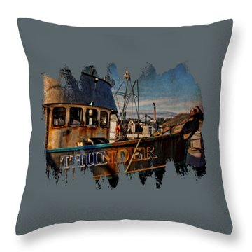 F/v Thunder Throw Pillow