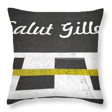 F1 Circuit Gilles Villeneuve - Montreal Throw Pillow