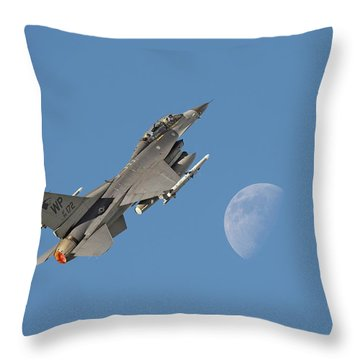 Throw Pillow featuring the photograph F16 - Aiming High by Pat Speirs