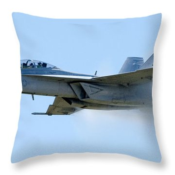 F18 - Barrier Throw Pillow by Greg Fortier