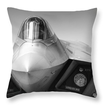 F22 Raptor Throw Pillow