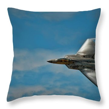 F22 Raptor Steals The Show Throw Pillow