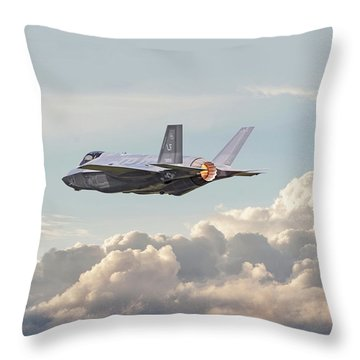 Throw Pillow featuring the photograph F35 -  Into The Future by Pat Speirs
