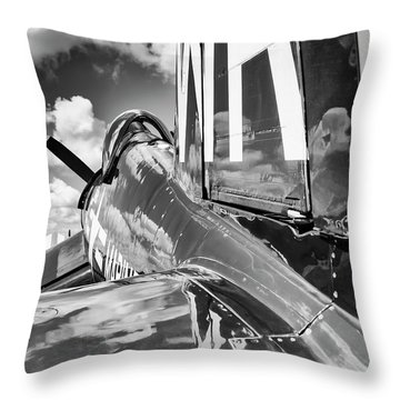 F4U Throw Pillow