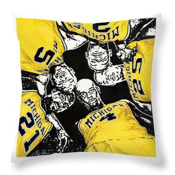 Fab Five At 25 Throw Pillow