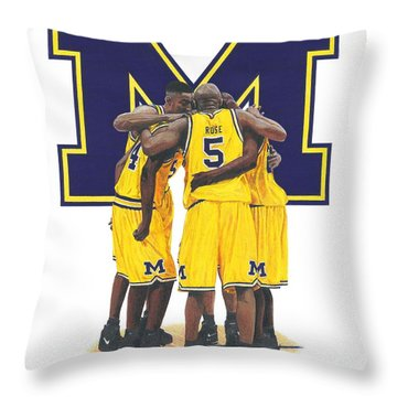 Fab Five Throw Pillow