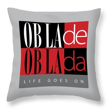 Fab Four Fave Throw Pillow by Stephen Anderson