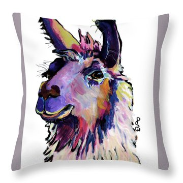 Fabio Throw Pillow by Pat Saunders-White