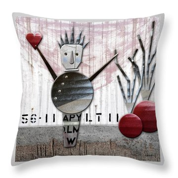 Fabio The God Of February Throw Pillow by Joan Ladendorf