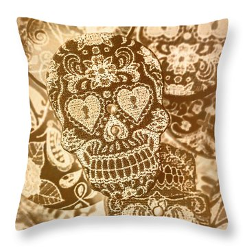Fabric And Folklore Throw Pillow