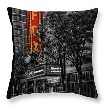 Fabulous Fox Theater Throw Pillow