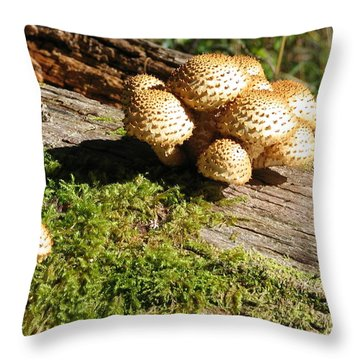 Fabulus Fungi Throw Pillow
