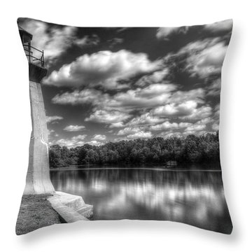 Fabyan Lighthouse On The Fox River Throw Pillow
